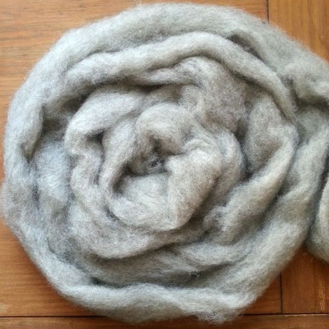 Light Gray-Brown Corriedale Roving, Colorado-Grown, 4 oz.