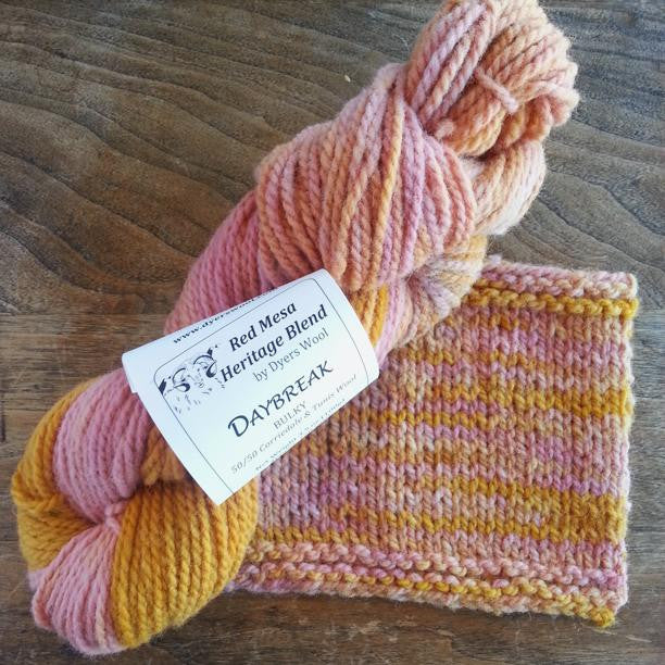 Daybreak Bulky Yarn, Colorado-Grown Wool, 3.5 oz skein