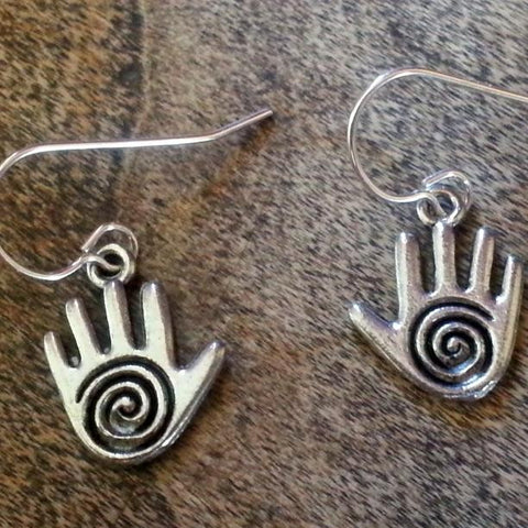 Hand Earrings - USA Pewter