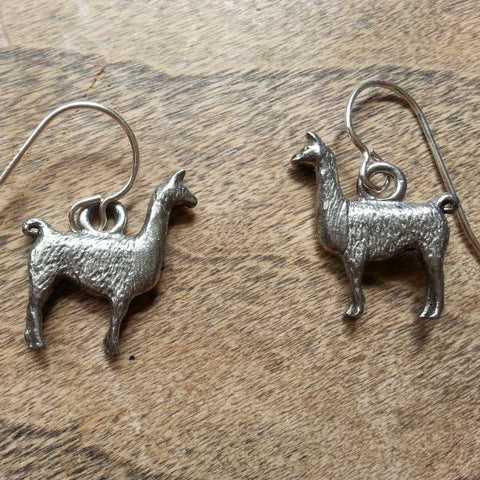 Llama Earrings - USA Pewter