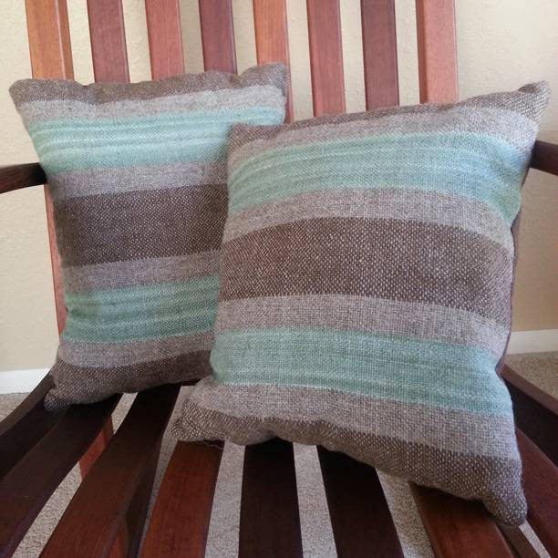 Brown & Sage Handwoven Navajo Churro Pillow Set