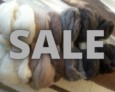 Bulk Homegrown Roving, Natural Colors 8 oz.
