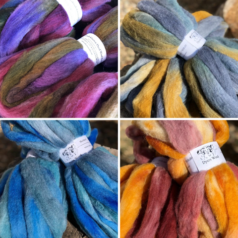 Hand-Dyed Shetland Wool Roving, Colorado-Grown, 4 oz.