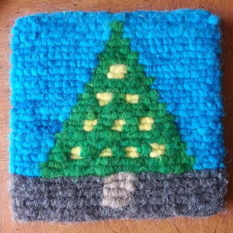 Christmas Tree Wool Trivet