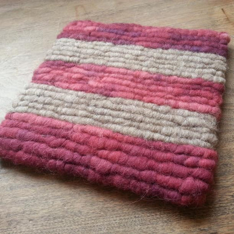 Rose Striped Wool Trivet