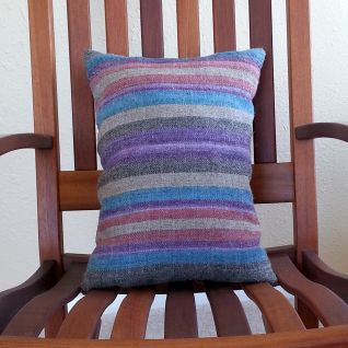 Purple Handwoven Navajo Churro Pillow