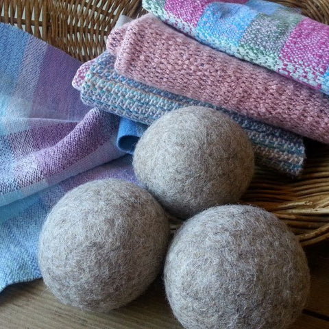 Felted Homegrown Wool Dryer Balls (Set of 3)