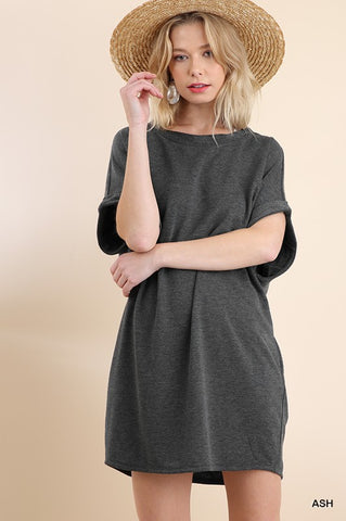 Grey French Terry Pocket Dress