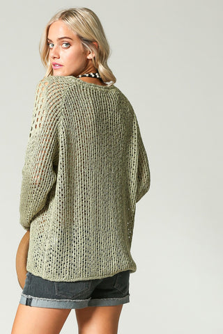 Dusty Olive Lightweight Sweater