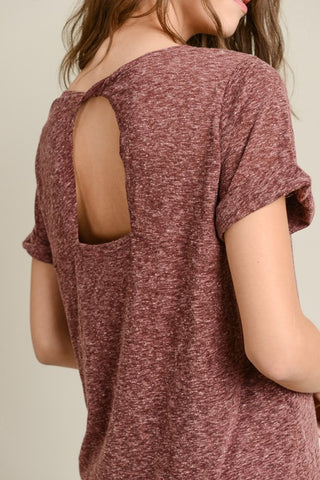 Berry Back Twist Tee