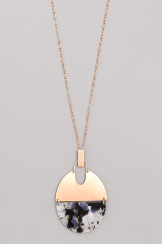 Acetate Disc Necklace