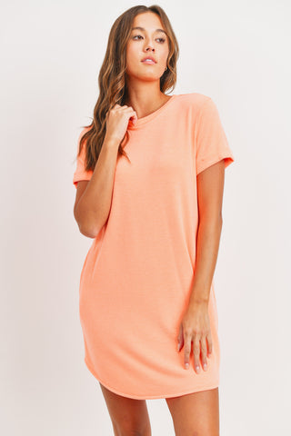 Neon Orange T-shirt Dress