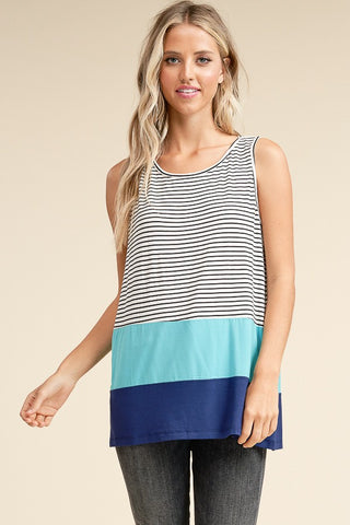 Striped Colorblock Tank Top