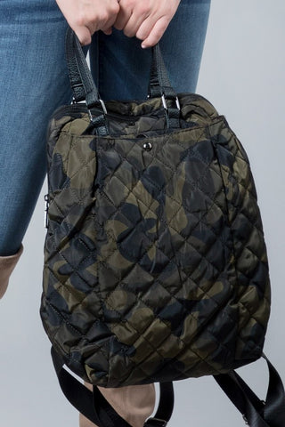 Camo Puffer Backpack