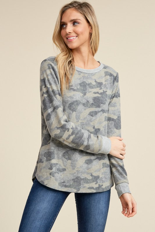Brushed Camo Sweatshirt