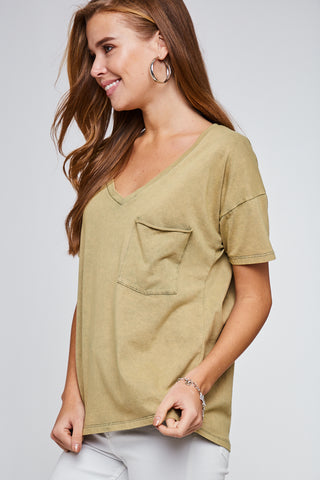 Washed Olive Tee
