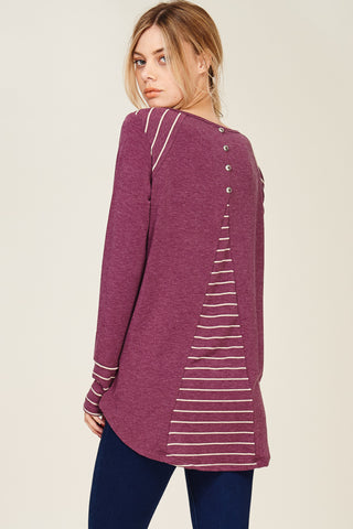 Plum Button Back Tunic