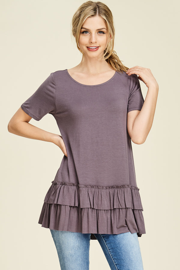 Double Ruffle Hem Top