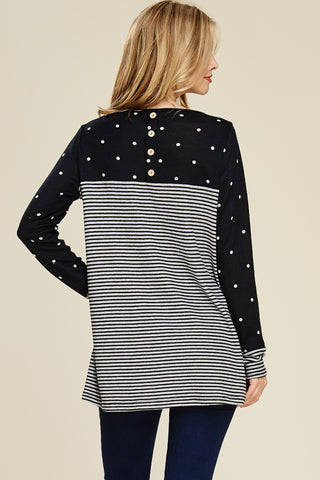 Polka Dot Striped Top