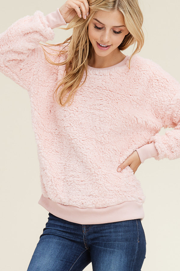 Blush Fleece Pullover