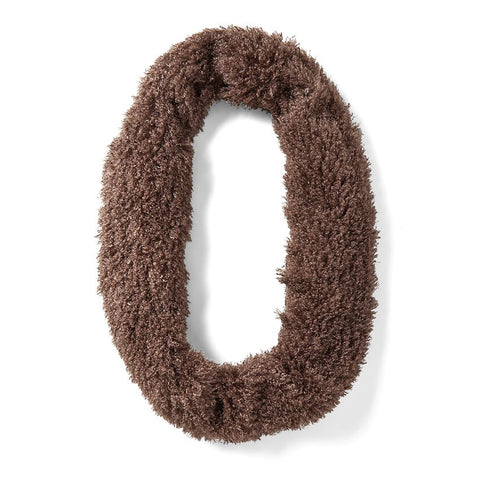 Brown Plush Infinity Scarf