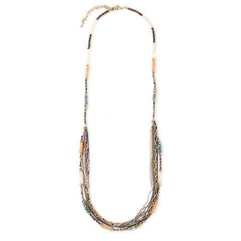 Beaded Mixed Metal Necklace