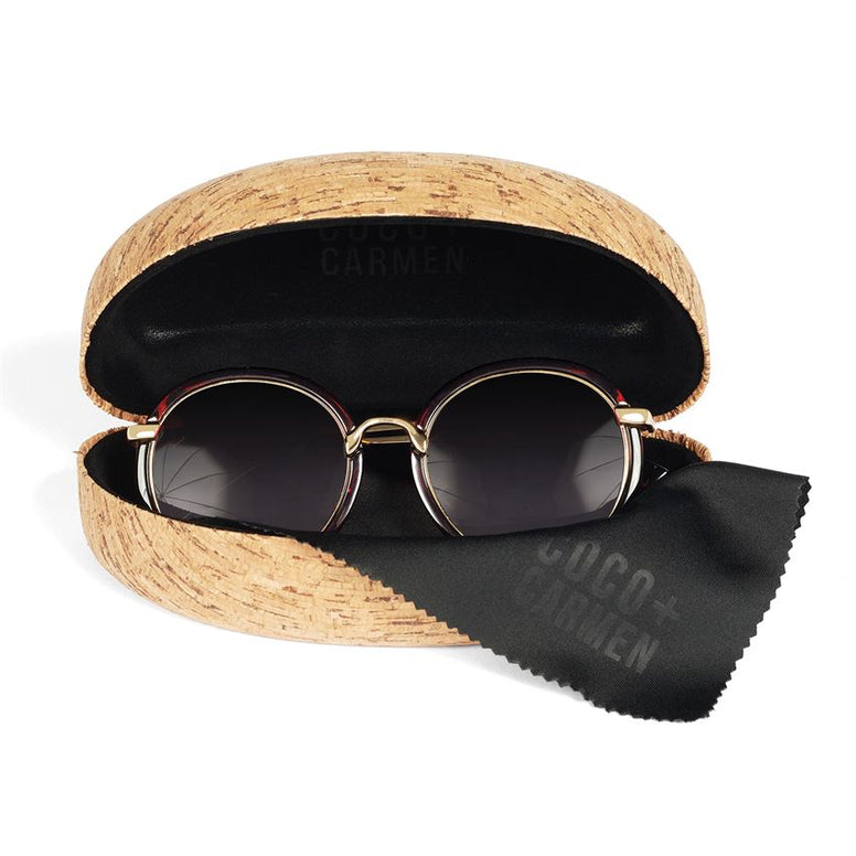 Cork Clamshell Sunglasses Case
