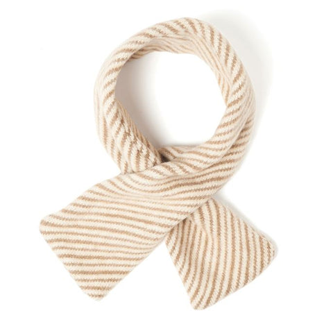 Soft Knit Striped Scarf