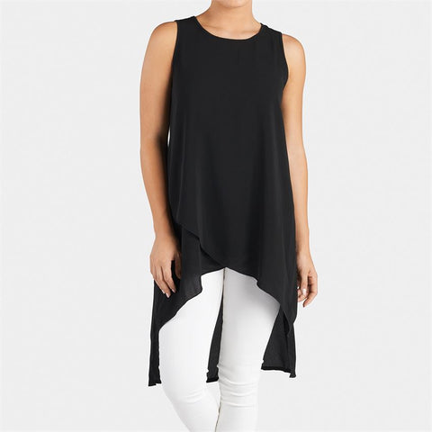 Black Hi Lo Tunic Tank