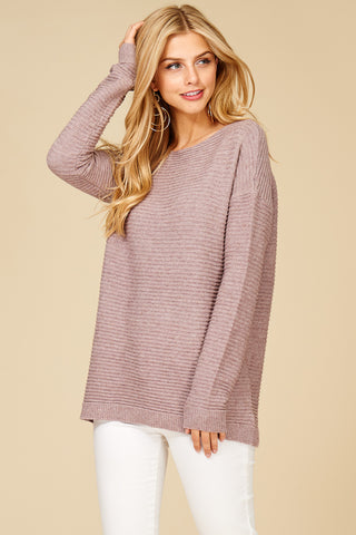 Blush Ribbed Sweater