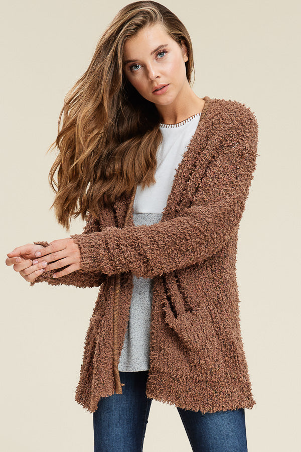 Super Soft Mocha Cardigan
