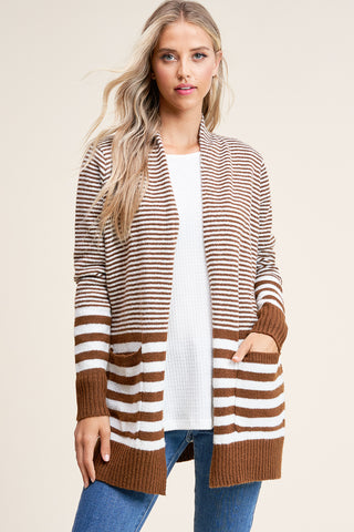 Copper Striped Cardigan