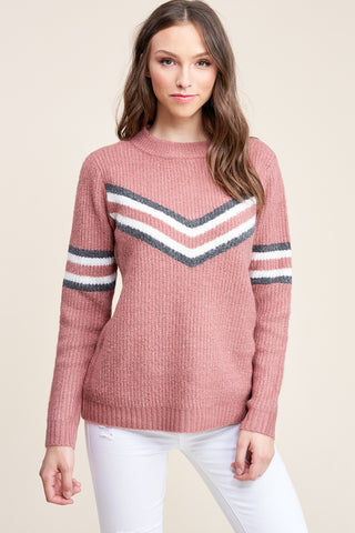 Mauve Chevron Sweater