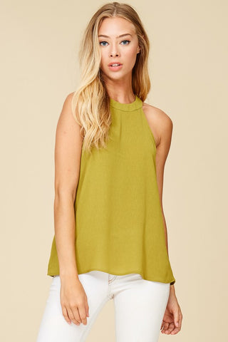 Avocado Halter Tank Top