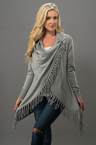 Wrap Fringe Sweater