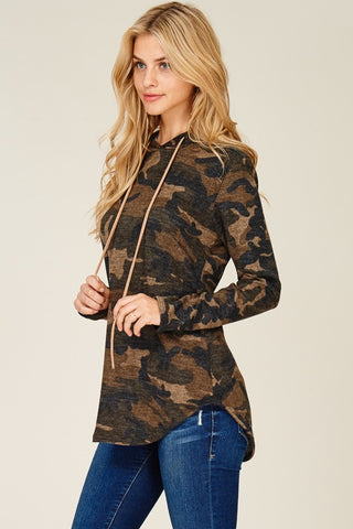 Hooded Camo Sweater