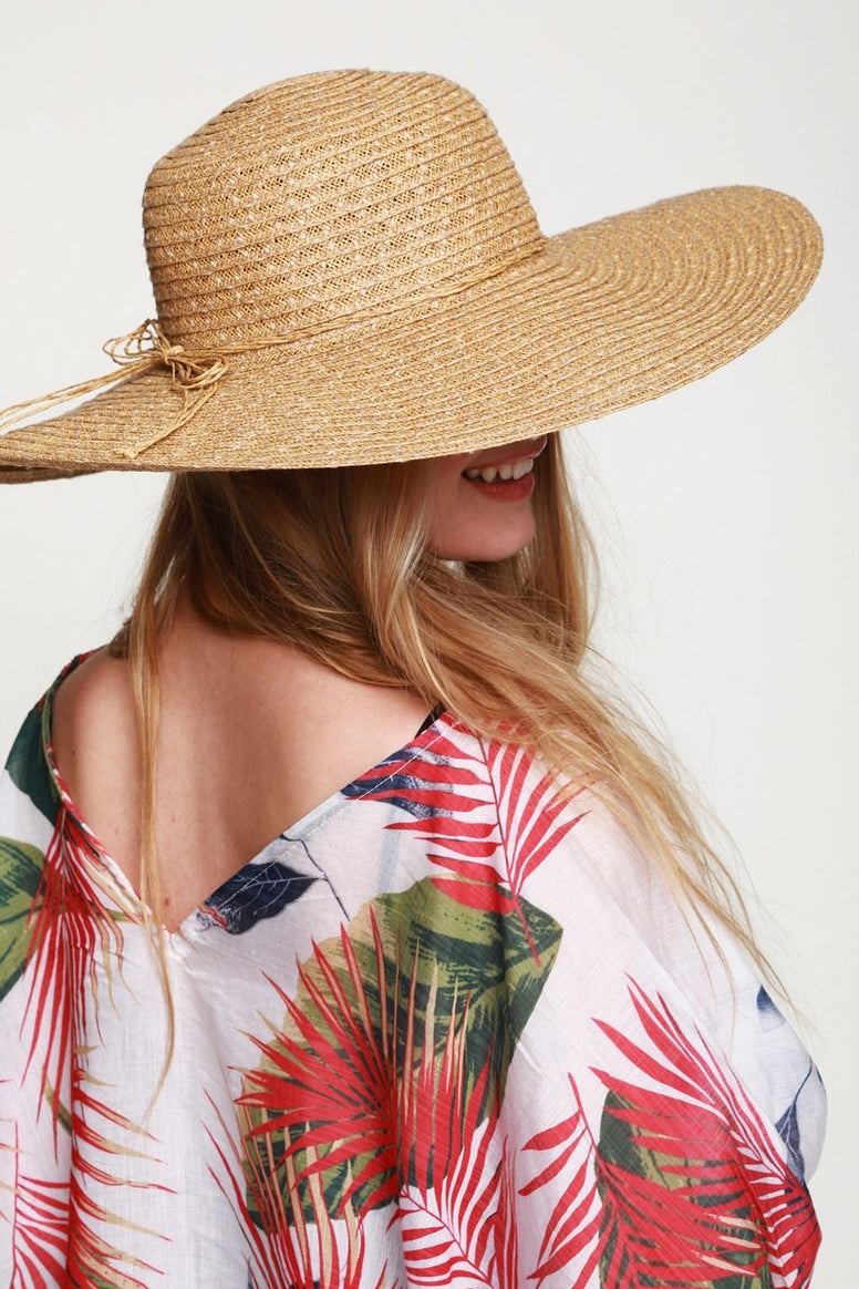 Natural Straw Wide Brim Sun Hat