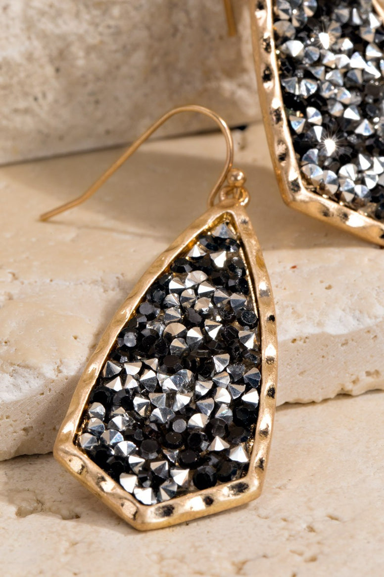 Glitter Stone Drop Earrings