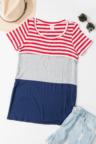 American Flag Colorblock Tee