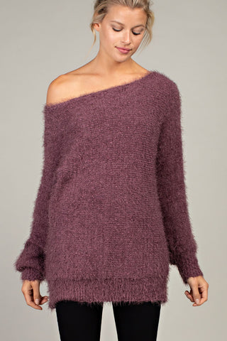Cozy Maroon Knit Sweater