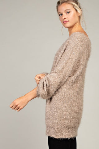 Cozy Taupe Knit Sweater