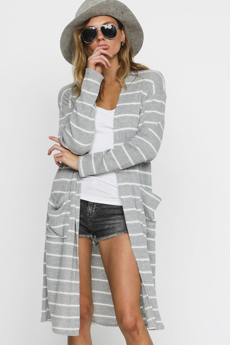Striped Waffle Duster