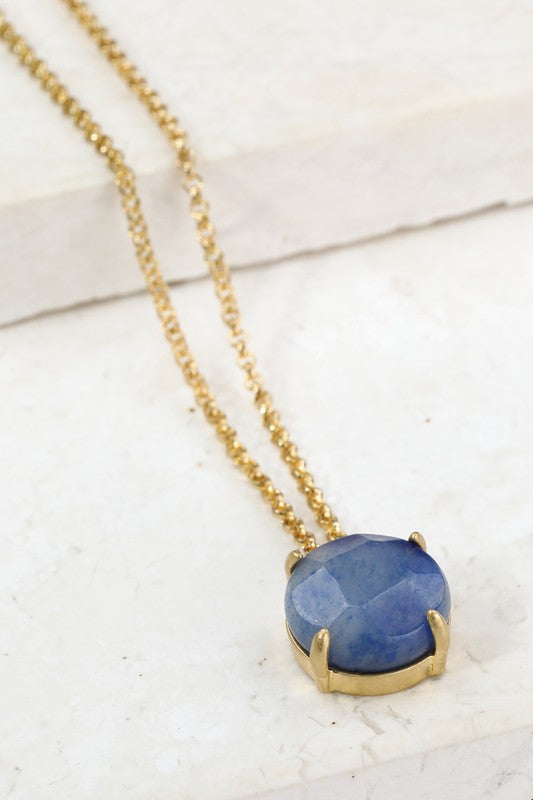 Stone Charm Necklace