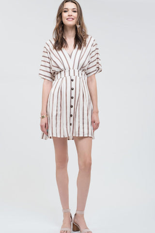 Striped Vneck Dress