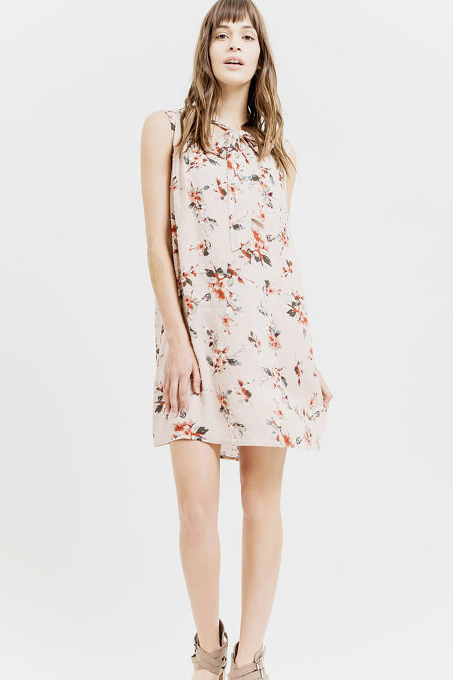 Dusty Pink Floral Dress