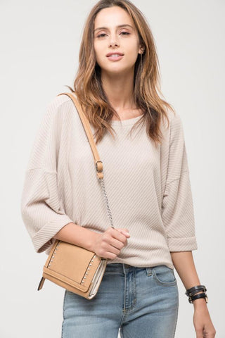 Geometric Slouchy Knit Top