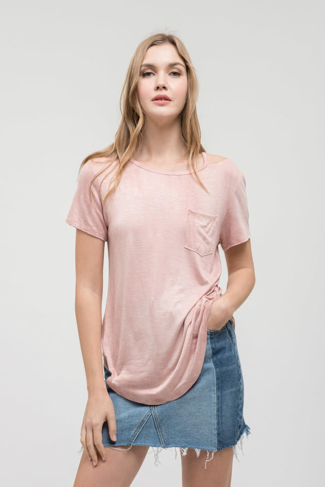 Rose Pocket Tee