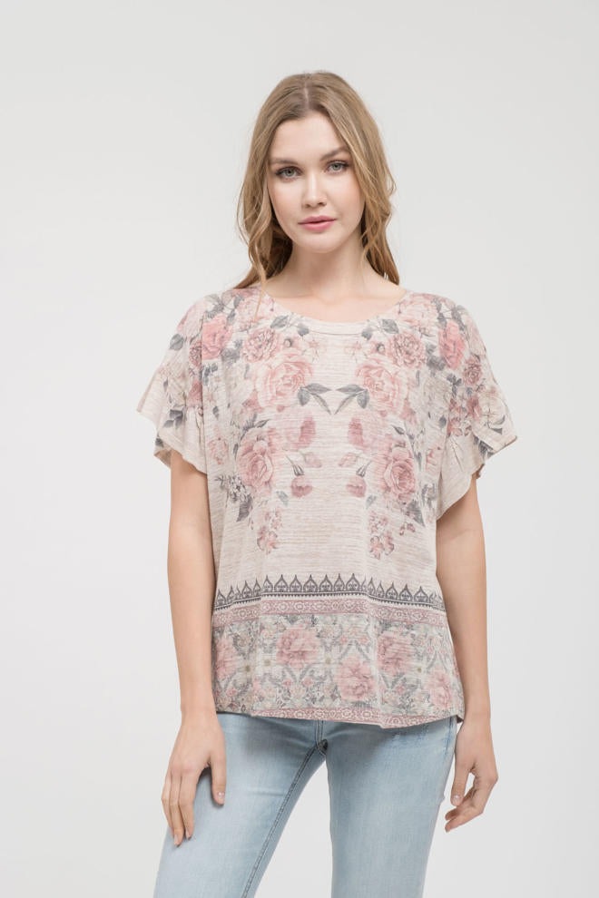 Floral Knit Top