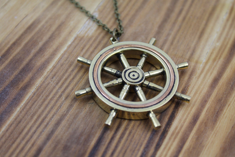 Ship's Wheel Necklace
