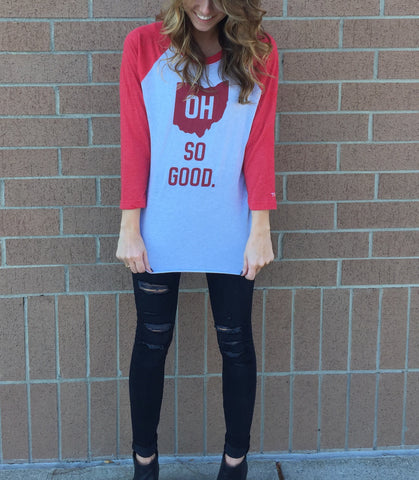 OH So Good Baseball Raglan
